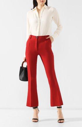 Брюки из смеси шерсти и шелка Valentino красные | Фото №2