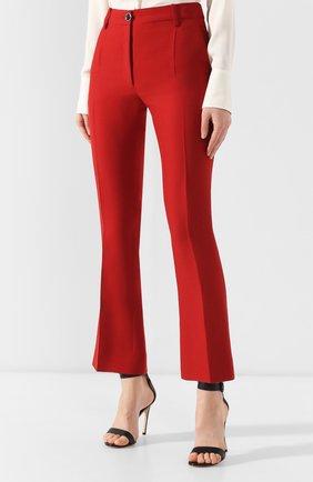 Брюки из смеси шерсти и шелка Valentino красные | Фото №3