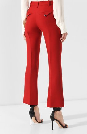 Брюки из смеси шерсти и шелка Valentino красные | Фото №4
