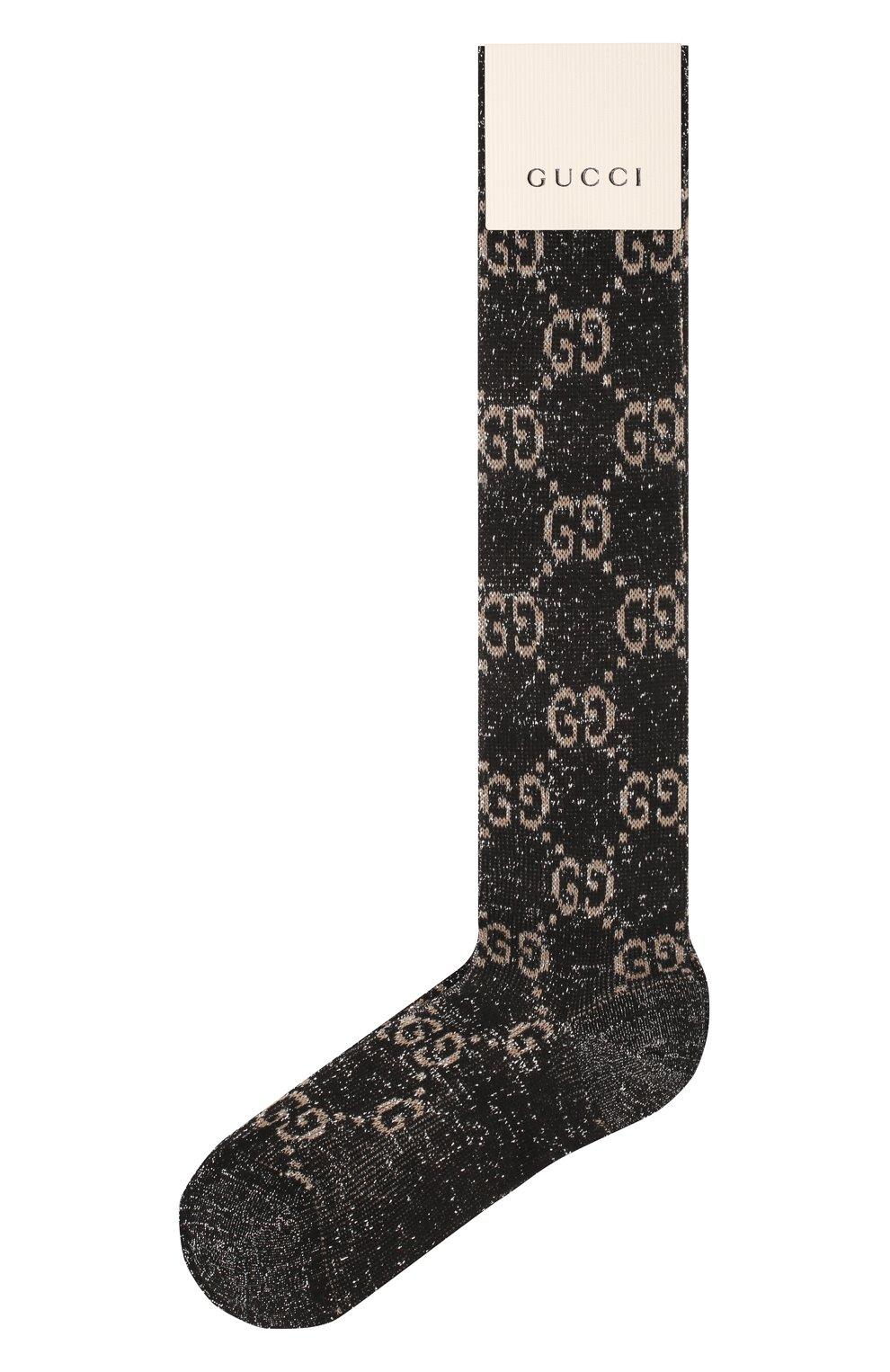 Женские гольфы GUCCI черного цвета, арт. 476525/3G199 | Фото 1