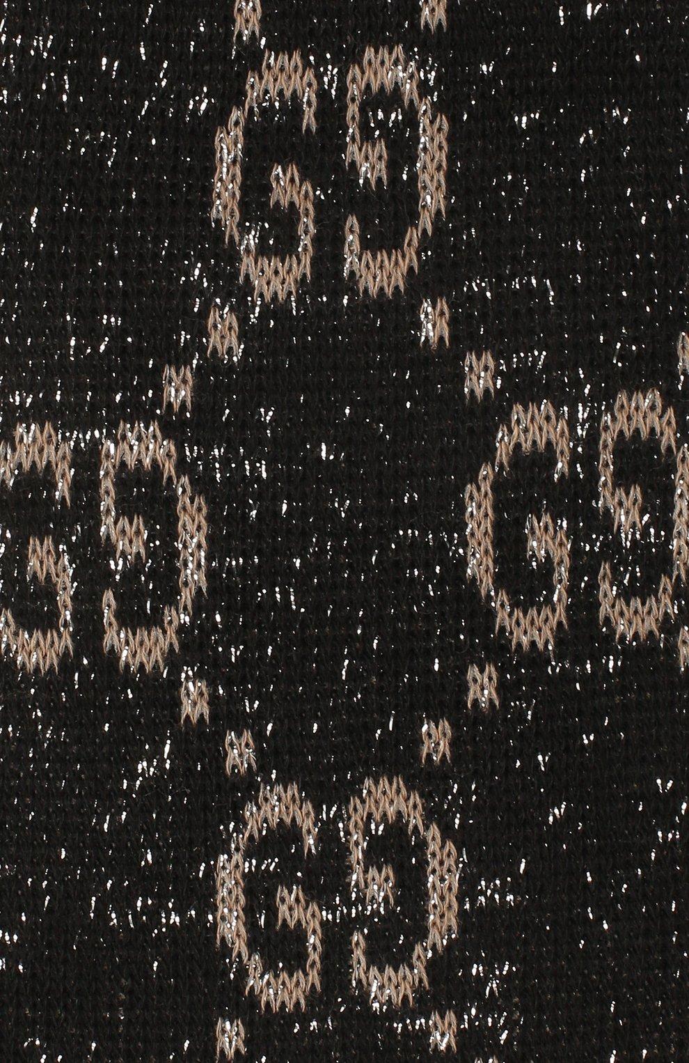 Женские гольфы GUCCI черного цвета, арт. 476525/3G199 | Фото 2