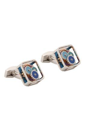 Мужские запонки TATEOSSIAN синего цвета, арт. CL6478 | Фото 1