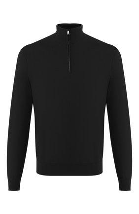 Мужской джемпер из смеси шерсти и кашемира RALPH LAUREN черного цвета, арт. 790531010 | Фото 1