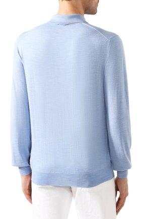Мужское шерстяное поло BRIONI светло-голубого цвета, арт. UMS10L/0ZK18 | Фото 4