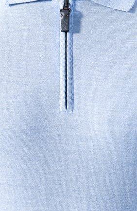 Мужское шерстяное поло BRIONI светло-голубого цвета, арт. UMS10L/0ZK18 | Фото 5