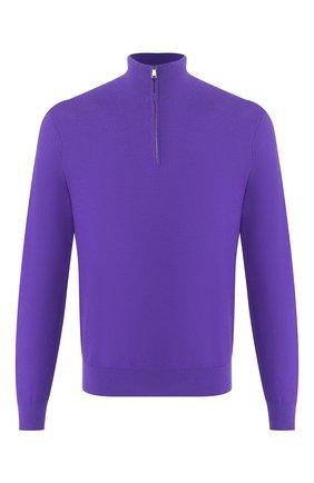 Мужской джемпер из смеси шерсти и кашемира RALPH LAUREN фиолетового цвета, арт. 790531010   Фото 1