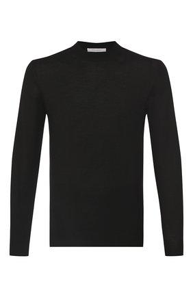 Мужской джемпер из кашемира и шелка CRUCIANI черного цвета, арт. CU487B.L03F6V | Фото 1