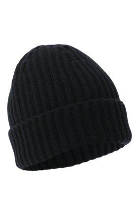 Мужская кашемировая шапка LORO PIANA темно-синего цвета, арт. FAI3766 | Фото 1