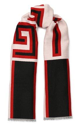 Мужской шарф из смеси шерсти и шелка GUCCI разноцветного цвета, арт. 553116/4G636 | Фото 1