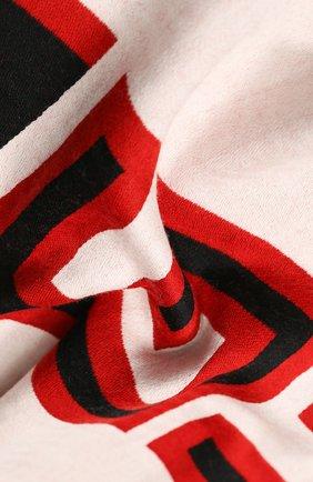 Мужской шарф из смеси шерсти и шелка GUCCI разноцветного цвета, арт. 553116/4G636 | Фото 2