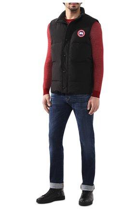 Мужской пуховый жилет garson vest CANADA GOOSE черного цвета, арт. 4151M   Фото 2