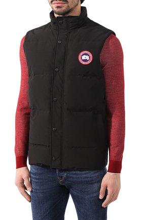 Мужской пуховый жилет garson vest CANADA GOOSE черного цвета, арт. 4151M | Фото 3