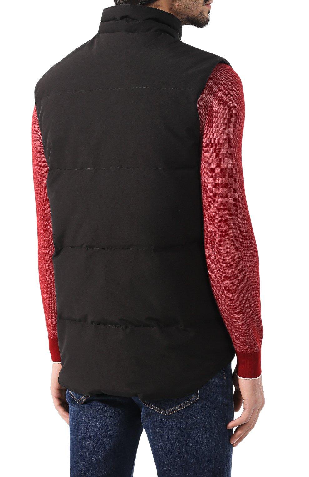 Мужской пуховый жилет garson vest CANADA GOOSE черного цвета, арт. 4151M | Фото 4
