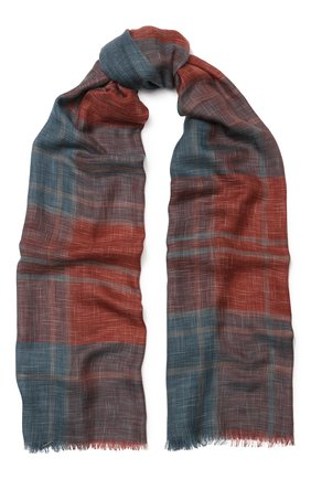 Мужской шарф из смеси кашемира и шелка LORO PIANA бордового цвета, арт. FAI5039 | Фото 1