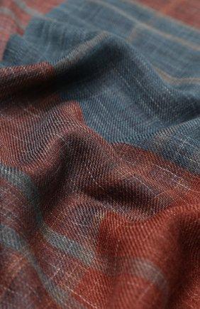 Мужской шарф из смеси кашемира и шелка LORO PIANA бордового цвета, арт. FAI5039 | Фото 2