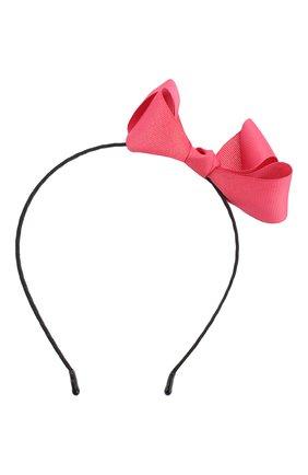 Детского ободок bow sh JUNEFEE розового цвета, арт. 4909 | Фото 1