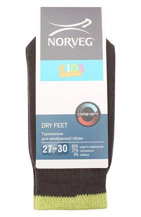 Детские шерстяные носки NORVEG коричневого цвета, арт. 9DFURU-184 | Фото 1