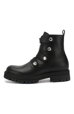Детские кожаные ботинки MISSOURI черного цвета, арт. 85817/31-34 | Фото 2