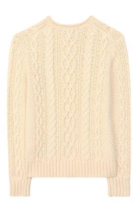Детский хлопковый пуловер POLO RALPH LAUREN бежевого цвета, арт. 323712073 | Фото 2