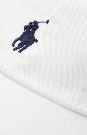 Хлопковая бейсболка Polo Ralph Lauren белого цвета   Фото №3