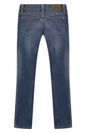 Детские джинсы с декоративными потертостями POLO RALPH LAUREN синего цвета, арт. 313734059 | Фото 2