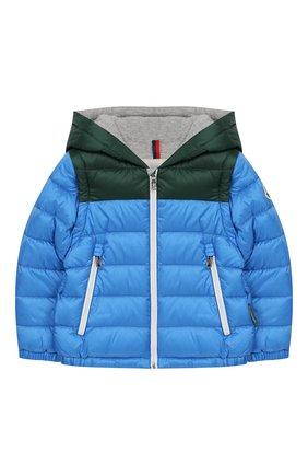 Детского куртка с капюшоном MONCLER ENFANT голубого цвета, арт. E1-951-41302-05-C0012 | Фото 1
