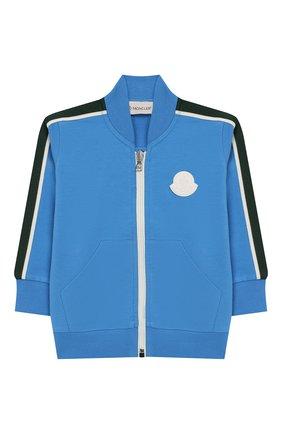 Детский хлопковый кардиган MONCLER ENFANT голубого цвета, арт. E1-951-84160-05-809AC | Фото 1