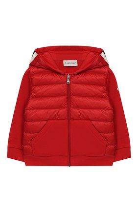 Детского куртка с капюшоном MONCLER ENFANT красного цвета, арт. E1-951-84161-05-809DK | Фото 1