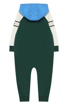 Хлопковый комбинезон с капюшоном | Фото №2