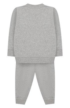 Детский комплект из хлопкового свитшота и брюк MONCLER ENFANT серого цвета, арт. E1-951-88125-05-809AC | Фото 2