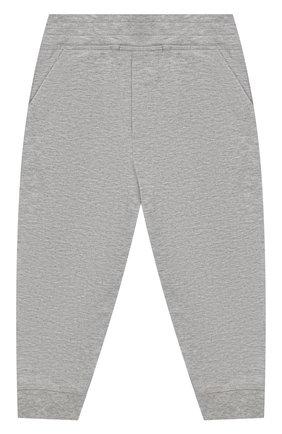 Детский комплект из хлопкового свитшота и брюк MONCLER ENFANT серого цвета, арт. E1-951-88125-05-809AC | Фото 3