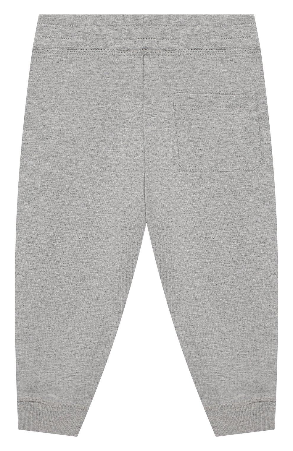 Детский комплект из хлопкового свитшота и брюк MONCLER ENFANT серого цвета, арт. E1-951-88125-05-809AC | Фото 4
