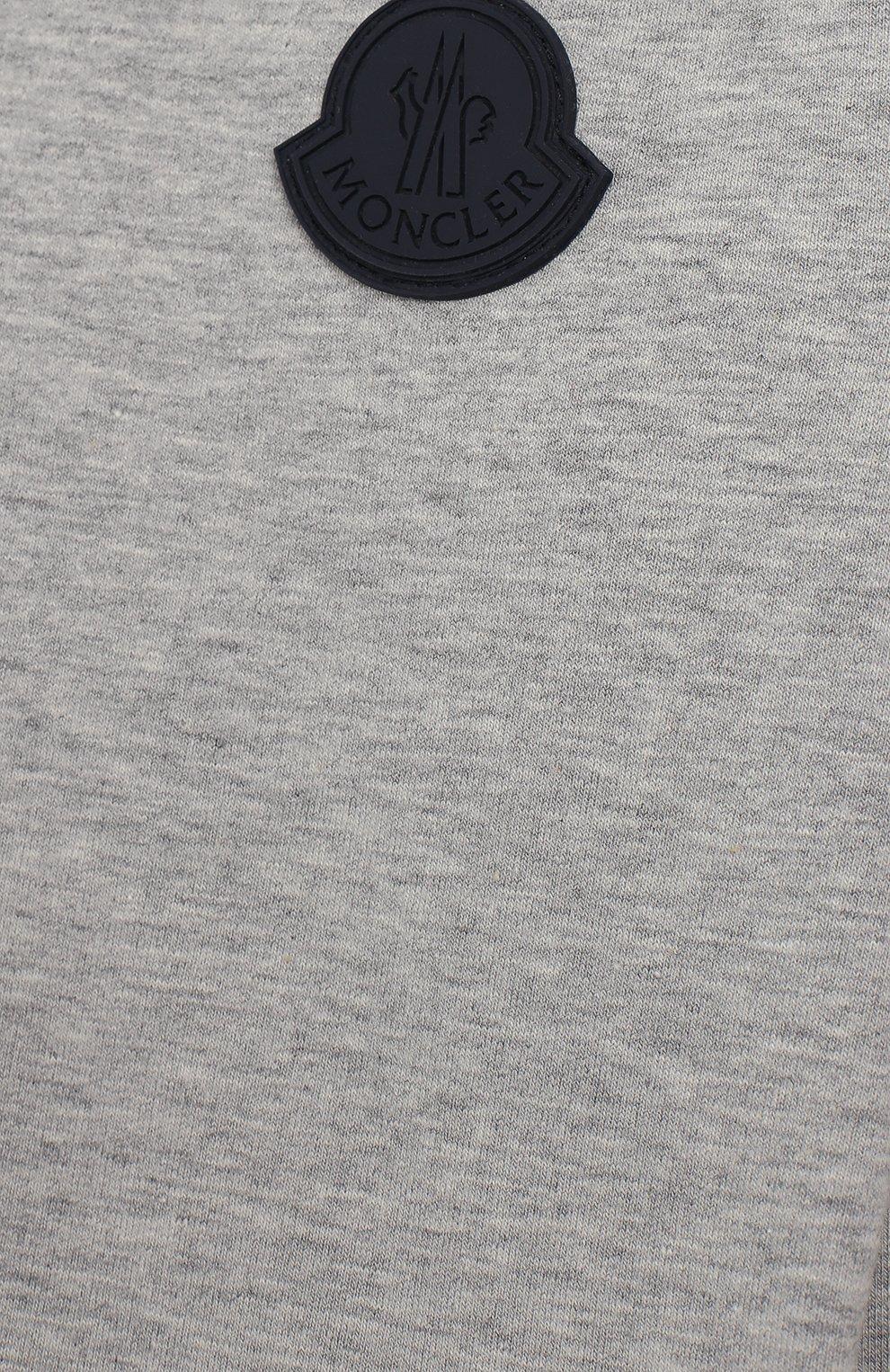 Детский комплект из хлопкового свитшота и брюк MONCLER ENFANT серого цвета, арт. E1-951-88125-05-809AC | Фото 5