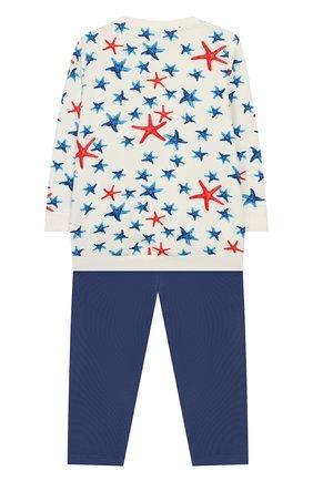 Детский комплект из хлопкового свитшота и брюк MONCLER ENFANT белого цвета, арт. E1-951-88586-50-809AC | Фото 2