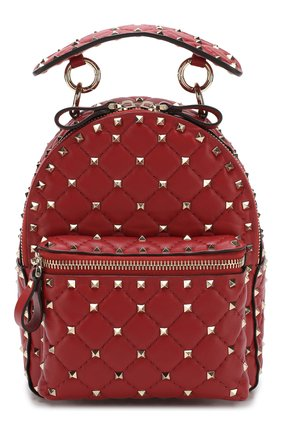 Женский рюкзак valentino garavani rockstud spike mini VALENTINO красного цвета, арт. RW2B0B63/NAP | Фото 1