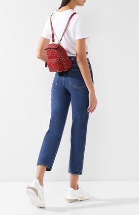 Женский рюкзак valentino garavani rockstud spike mini VALENTINO красного цвета, арт. RW2B0B63/NAP | Фото 2