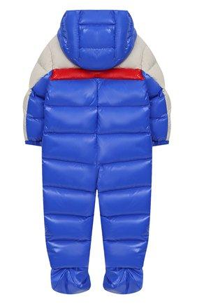 Детский комплект из пухового комбинезона и пинеток MONCLER ENFANT синего цвета, арт. D2-951-14360-85-68950/3M-18M | Фото 2