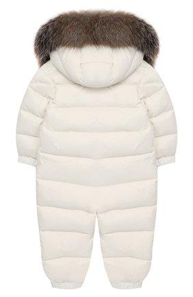 Детский пуховый комбинезон MONCLER ENFANT белого цвета, арт. D2-951-14361-15-53079/18M-3A | Фото 2