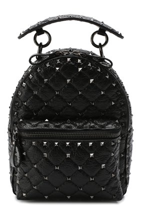Женский рюкзак valentino garavani spike mini VALENTINO черного цвета, арт. RW2B0B63/ARD | Фото 1