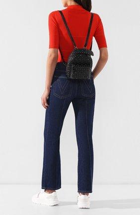Женский рюкзак valentino garavani spike mini VALENTINO черного цвета, арт. RW2B0B63/ARD | Фото 2