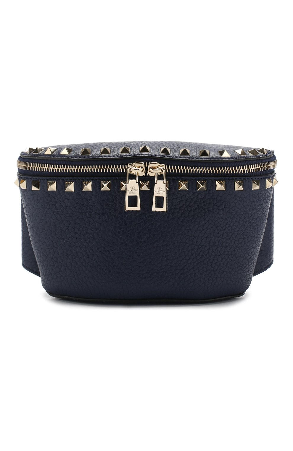 Поясная сумка Valentino Garavani Rockstud Valentino темно-синяя | Фото №1