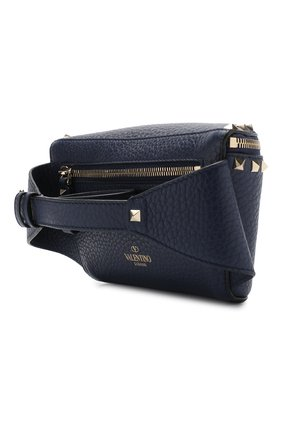 Поясная сумка Valentino Garavani Rockstud Valentino темно-синяя | Фото №3