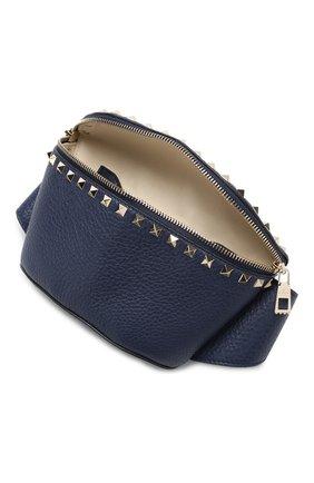 Поясная сумка Valentino Garavani Rockstud Valentino темно-синяя | Фото №4