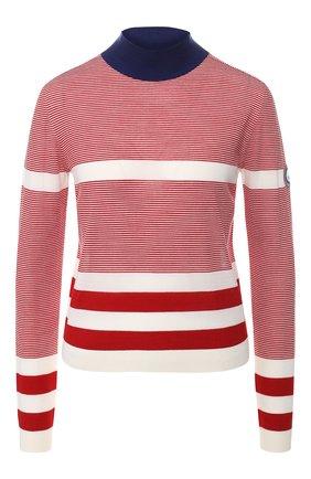 Женский шерстяной пуловер GIORGIO ARMANI красного цвета, арт. 3GAM37/AM95Z | Фото 1