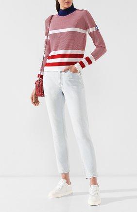Женский шерстяной пуловер GIORGIO ARMANI красного цвета, арт. 3GAM37/AM95Z | Фото 2