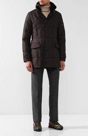 Мужской шерстяные брюки ANDREA CAMPAGNA серого цвета, арт. AC102/T70.5   Фото 2