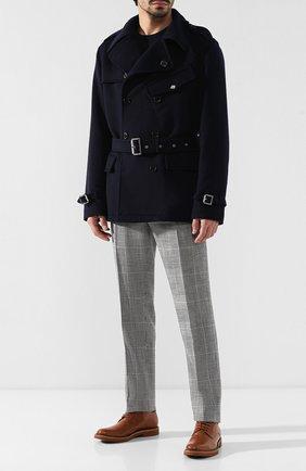 Мужской брюки из смеси шерсти и шелка RALPH LAUREN черно-белого цвета, арт. 798741050 | Фото 2