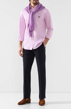 Мужская хлопковая рубашка с воротником button down RALPH LAUREN розового цвета, арт. 790730895 | Фото 2