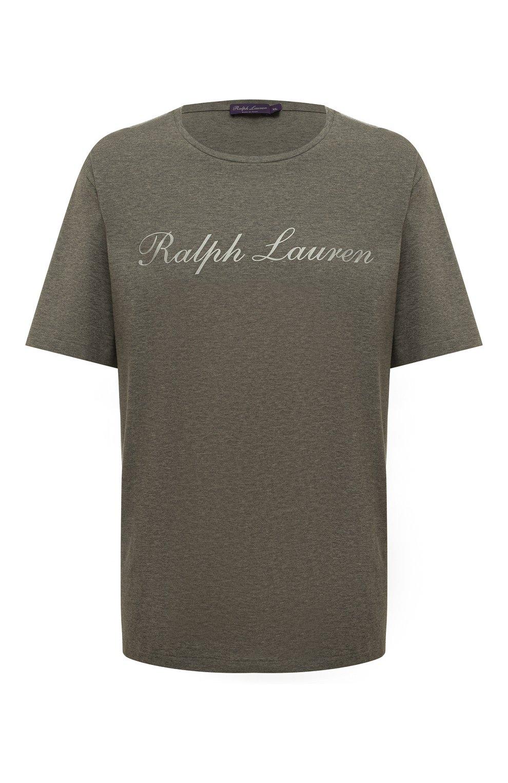 Мужская хлопковая футболка  RALPH LAUREN серого цвета, арт. 790702874 | Фото 1