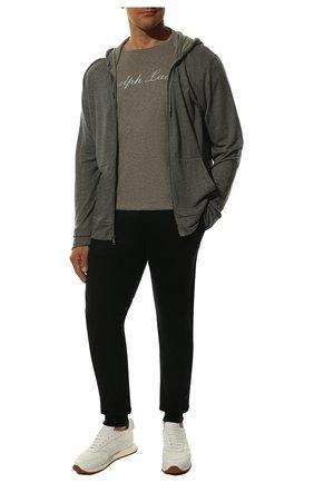 Мужская хлопковая футболка  RALPH LAUREN серого цвета, арт. 790702874 | Фото 2